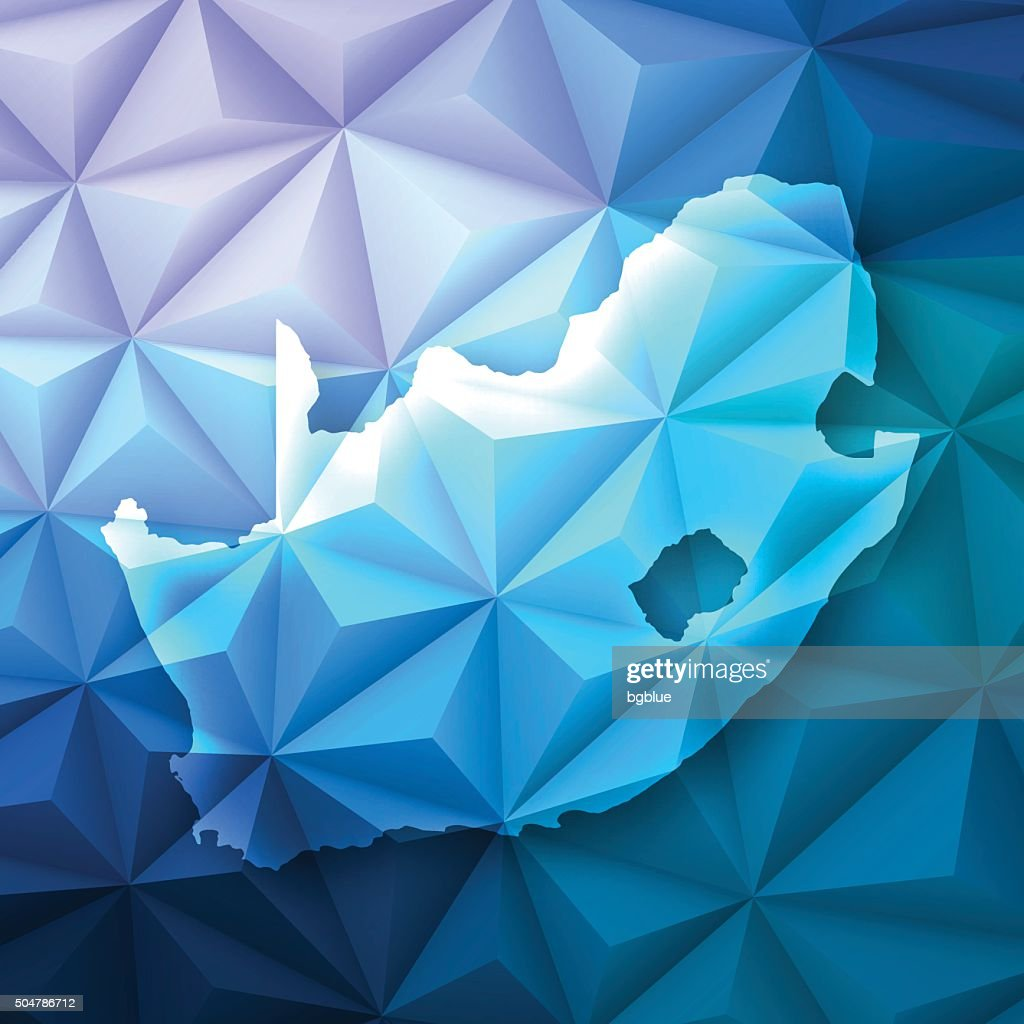 South Africa on Abstract Polygonal Background - Low Poly, Geometric : stock illustration
