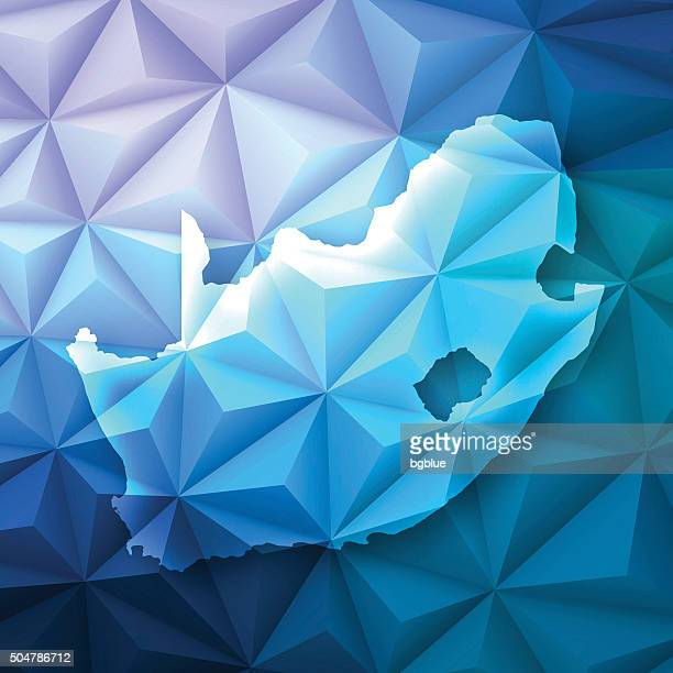 South Africa on Abstract Polygonal Background - Low Poly, Geometric