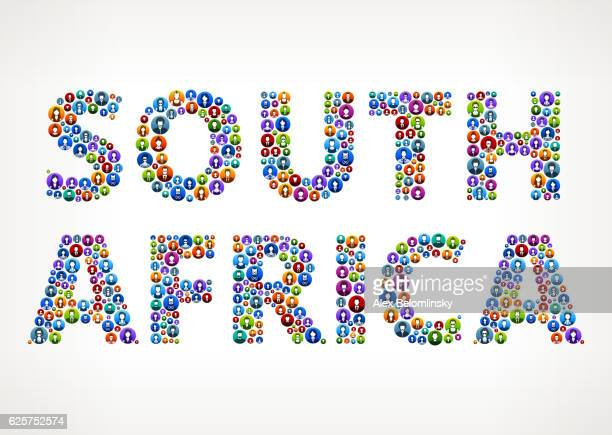 South Africa People Circle Vector Graphic Illustration