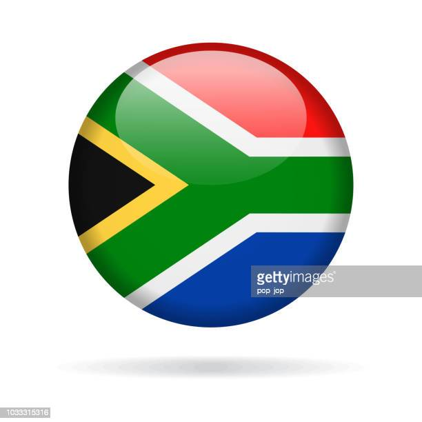 South Africa - Round Flag Vector Glossy Icon