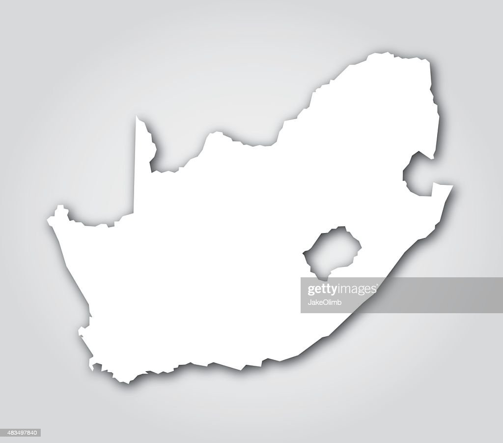 south africa silhouette white