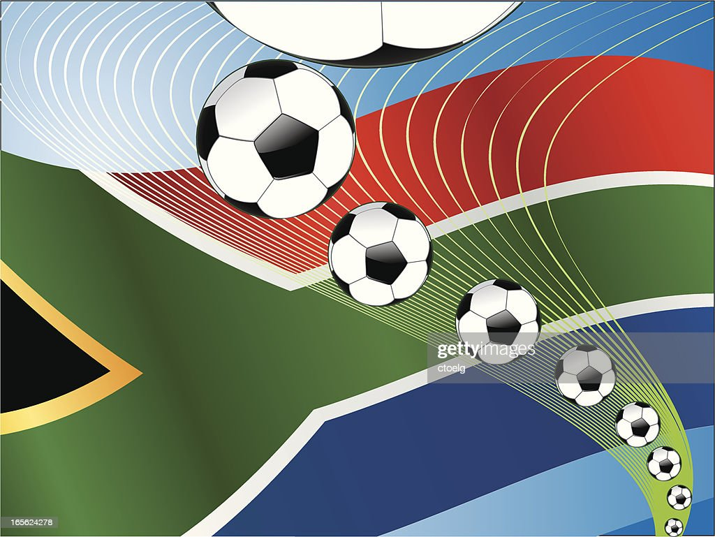 South Africa Soccer Ball Energy row : stock illustration