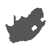 South Africa vector map.