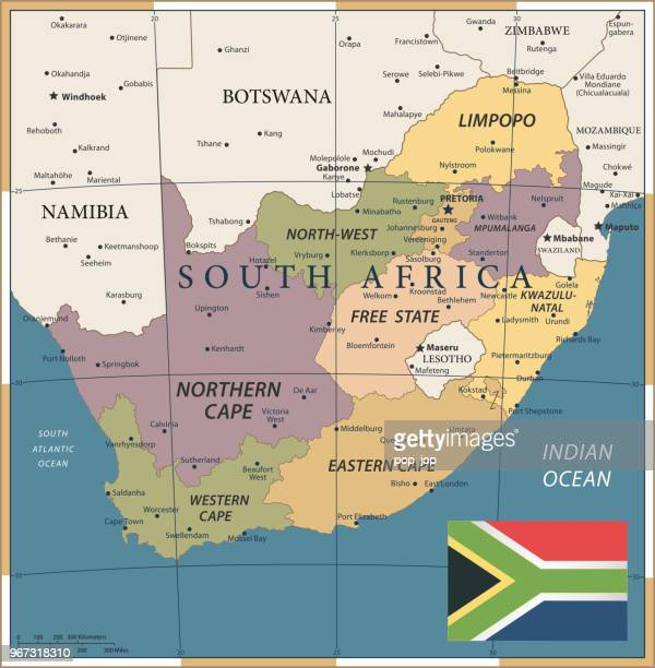 20 - South Africa - Vintage Color Dark