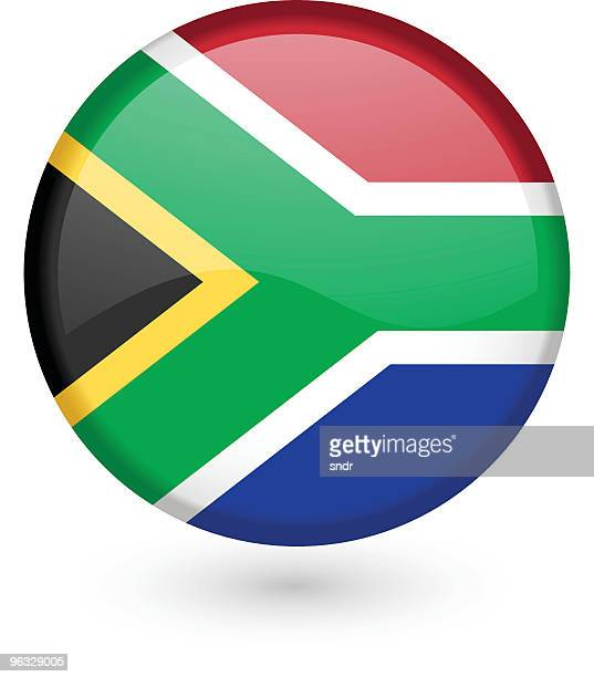 South African flag vector button