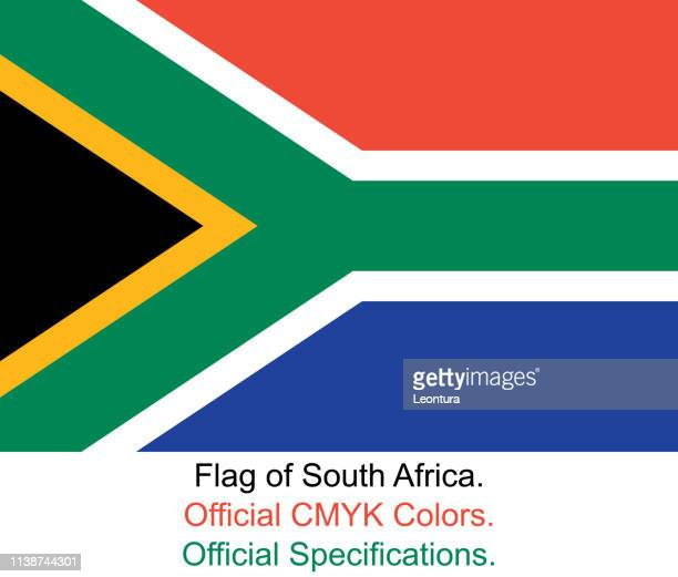 South African Flag (Official CMYK Colours, Official Specifications)