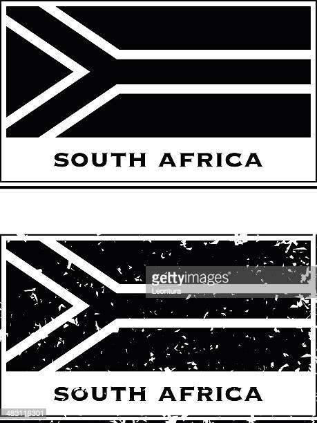 ilustrações, clipart, desenhos animados e ícones de visto de passaporte sul-africano - bandeira sul africana