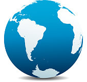 South America and Africa Global World