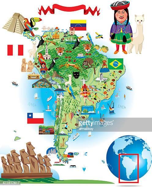 Dibujo Mapa de América del Sur