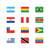 South America Continent Flags