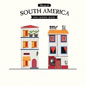 South America house style - vector illustration