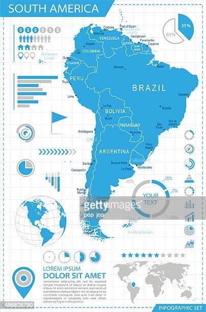 Südamerika-Infografik Karte-Illustration