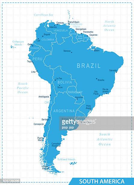 South America Map - Illustration