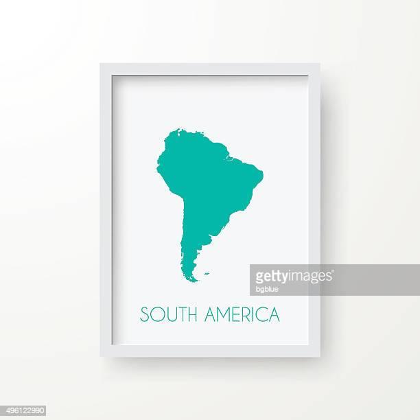 ilustraciones, imágenes clip art, dibujos animados e iconos de stock de américa del sur mapa en el marco sobre fondo blanco - islas malvinas