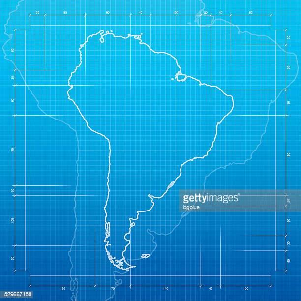 ilustraciones, imágenes clip art, dibujos animados e iconos de stock de américa del sur mapa sobre un fondo de diagrama - islas malvinas