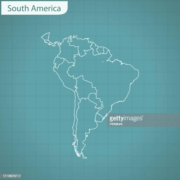 ilustraciones, imágenes clip art, dibujos animados e iconos de stock de mapa de américa del sur - hispanoamérica