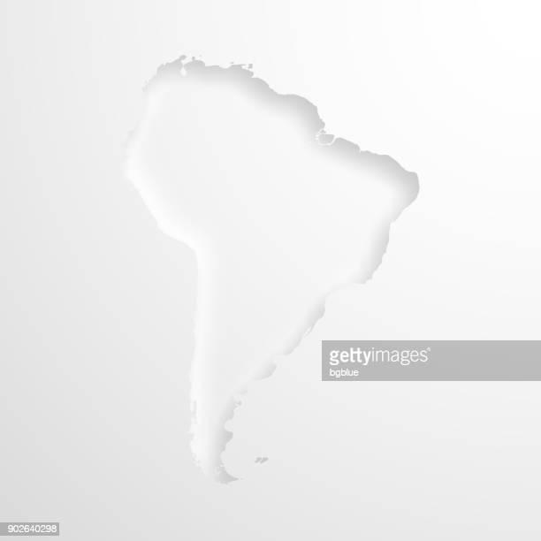ilustraciones, imágenes clip art, dibujos animados e iconos de stock de mapa de américa del sur con efecto de papel realzado sobre fondo blanco - islas malvinas
