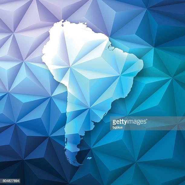 ilustraciones, imágenes clip art, dibujos animados e iconos de stock de américa del sur en abstract polygonal fondo de tecnología, geométricas - islas malvinas