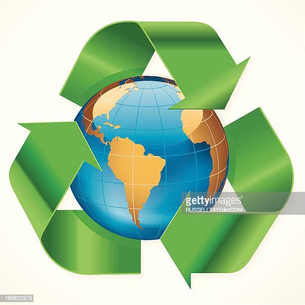 Südamerika Recycling-Symbol