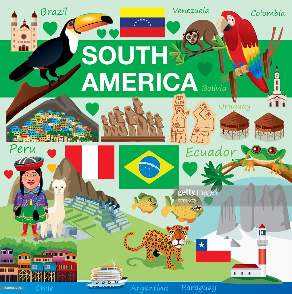 South America : stock illustration