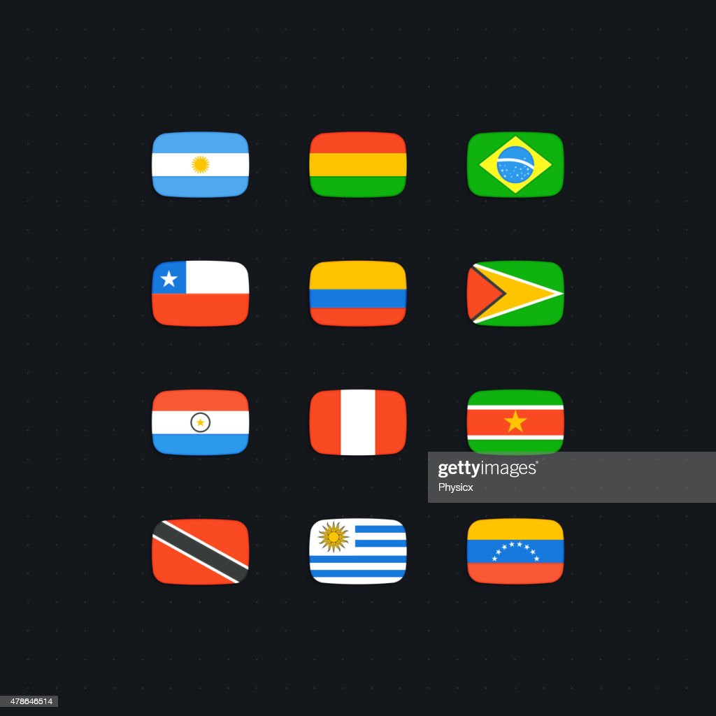 South American Country Flags
