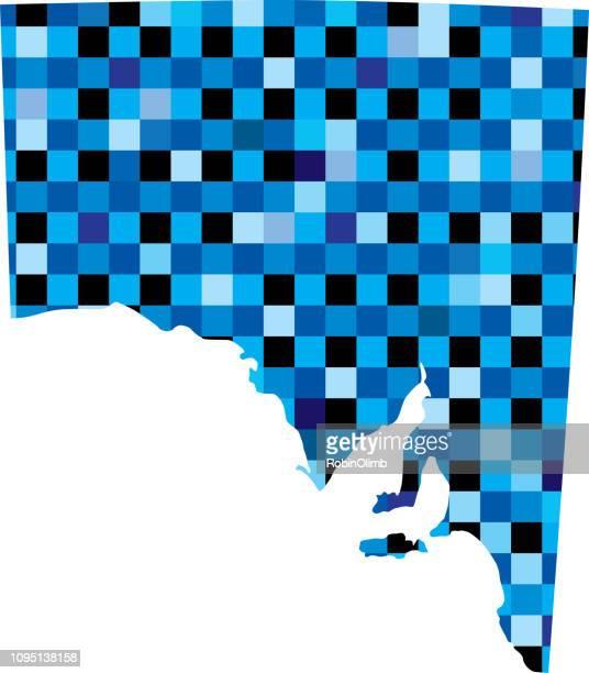 South Australia Blue Squares Maps