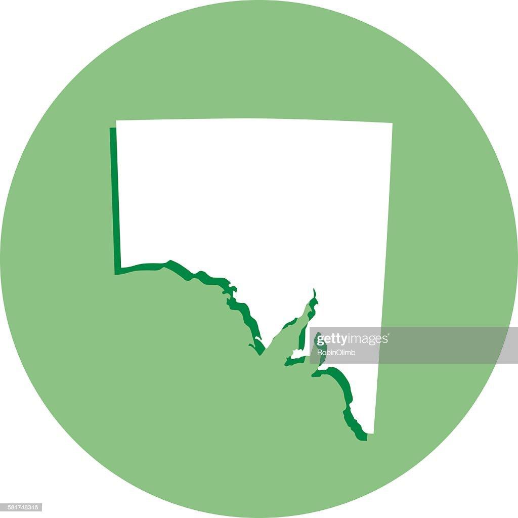 Australia Map Icon.South Australia Round Map Icon Stock Illustration Getty Images