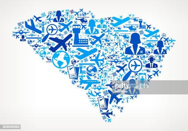 South Carolina Aviation and Air Planes Vector Graphic