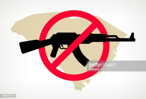 South Carolina No Gun Violence Vector Poster
