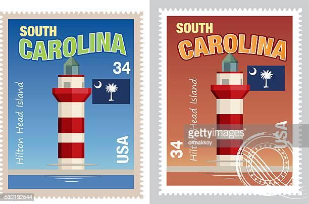 サウスキャロライナ stamp - ヒルトンヘッド点のイラスト素材/クリップアート素材/マンガ素材/アイコン素材