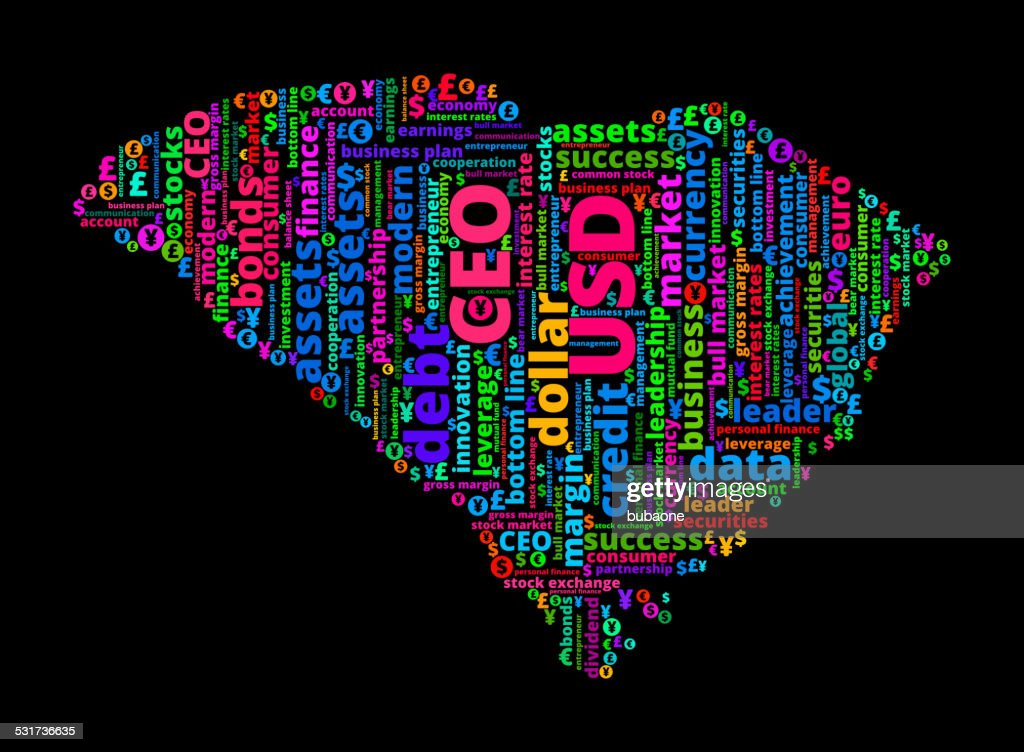 South Carolina State On Business And Finance Word Cloud