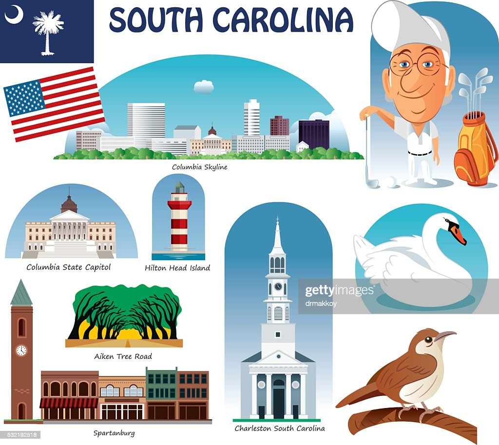 South Carolina Symbols Vector Art Getty Images