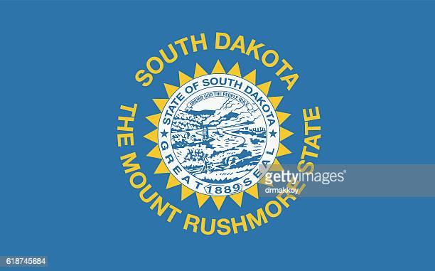 south dakota flag - south dakota stock illustrations