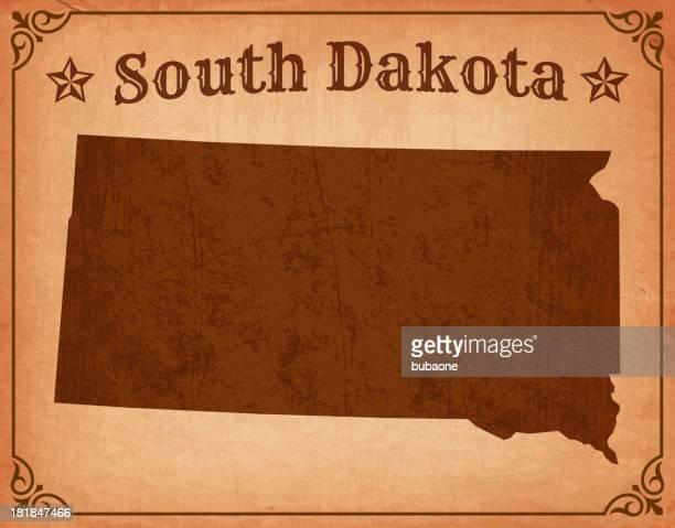 south dakota grunge map with frame - south dakota stock illustrations, clip art, cartoons, & icons