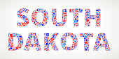 South Dakota Vote and Elections USA Patriotic Icon Pattern