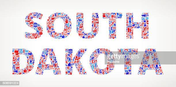 south dakota vote and elections usa patriotic icon pattern - south dakota stock illustrations, clip art, cartoons, & icons
