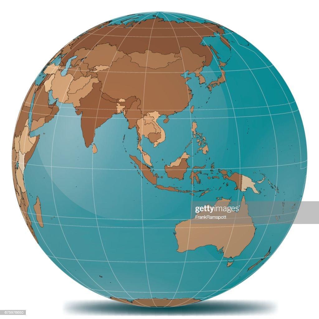 Planet Erde Länder in Südostasien : Stock-Illustration