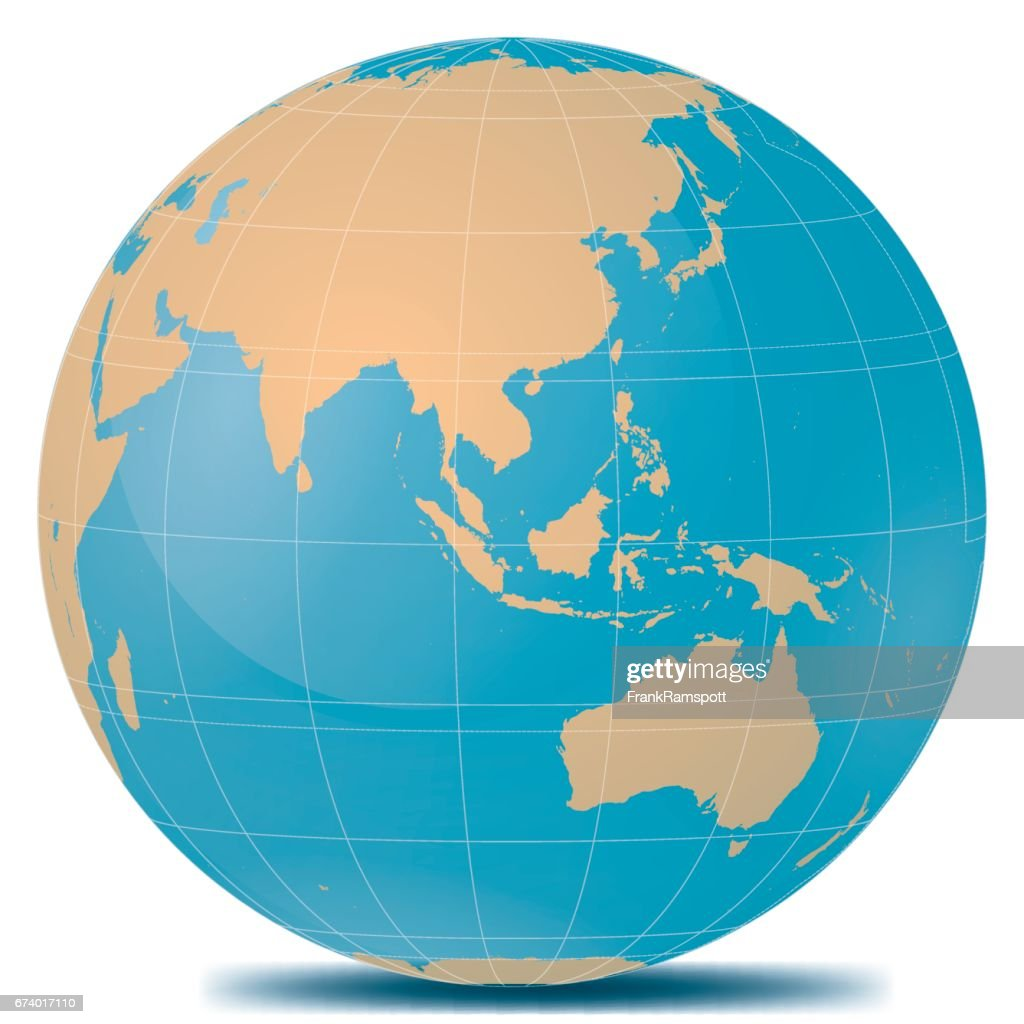 South East Asia Planetenerde : Stock-Illustration