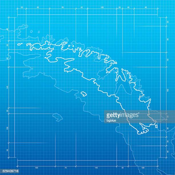 south georgia and south sandwich islands map on blueprint background - atlantic islands stock illustrations