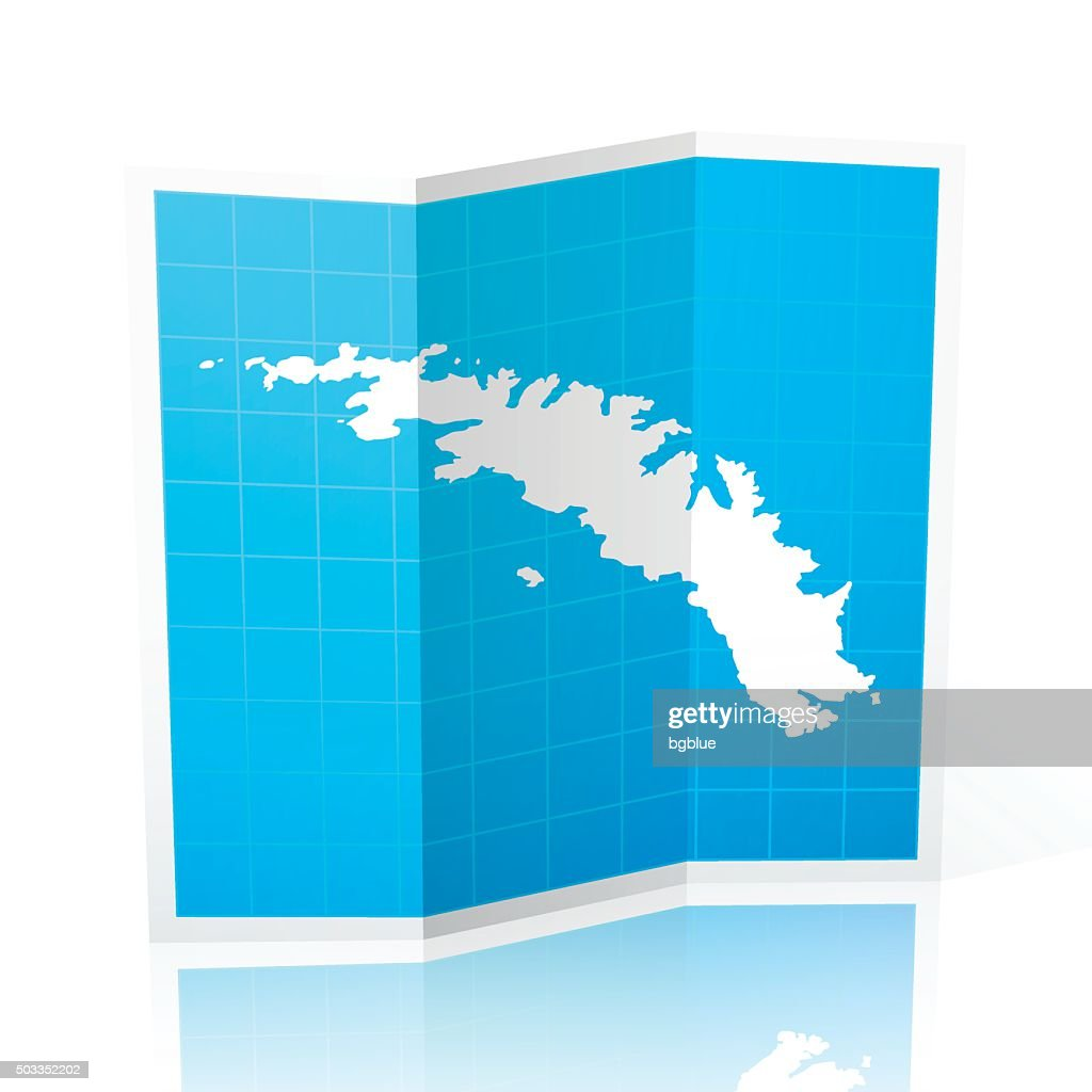 Map Of Georgia Islands.South Georgia And The South Sandwich Islands Map Folded Vector Art