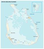 South keeling islands map