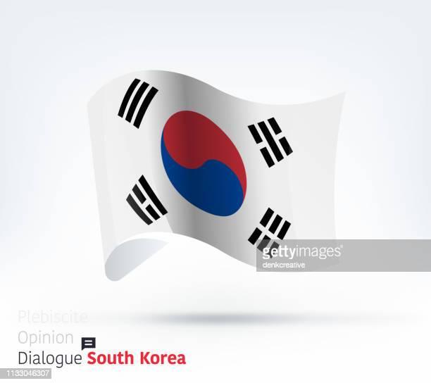 Südkoreas Flagge Internationaler Dialog und Konfliktmanagement