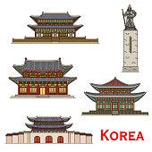 South Korea Seoul famous architecture facade icons