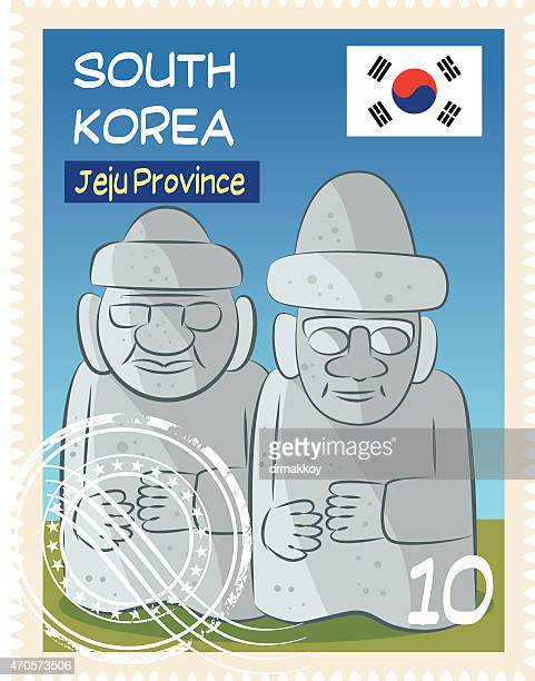 south korea stamp - sea of japan or east sea stock illustrations, clip art, cartoons, & icons