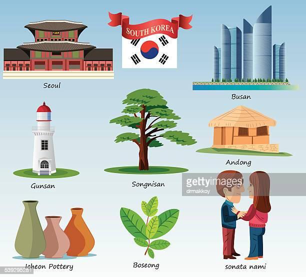 south korea symbols - sea of japan or east sea stock illustrations, clip art, cartoons, & icons