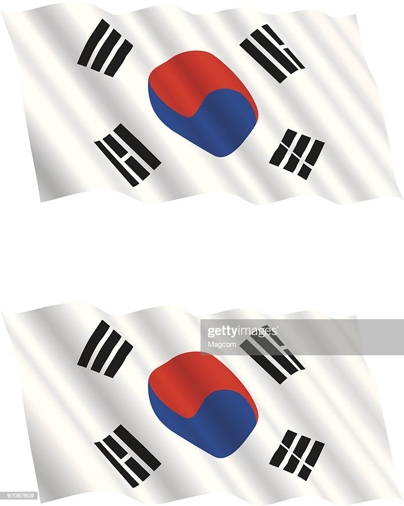 South Korean Flag Flying in the Wind