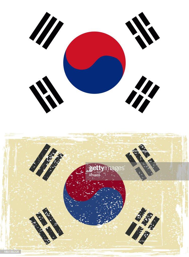 South Korean grunge flag..