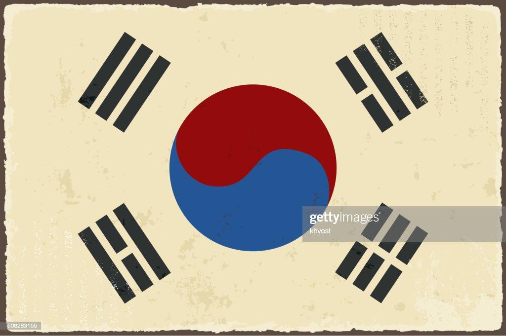South Korean grunge flag.