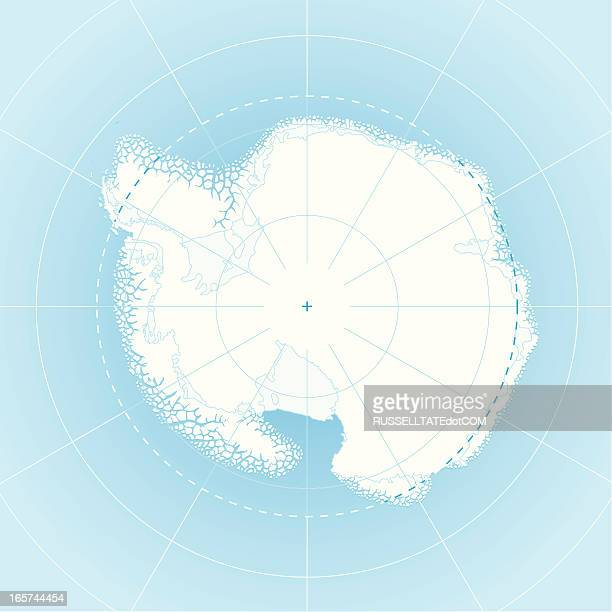 South Pole Map (antarctica)