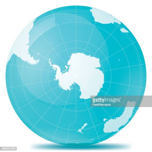 south pole planet earth blue white - antarctica stock illustrations